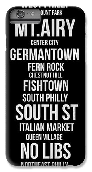 Philadelphia iPhone 6 Plus Case - Streets Of Philadelphia 2 by Naxart Studio