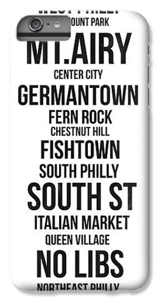 Philadelphia iPhone 6 Plus Case - Streets Of Philadelphia 3 by Naxart Studio