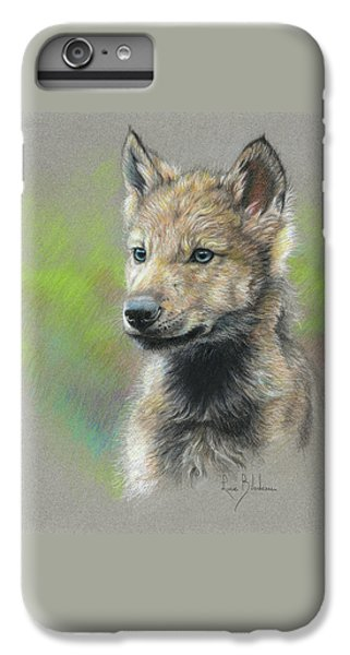 Wolves iPhone 6 Plus Case - Study - Baby Wolf by Lucie Bilodeau