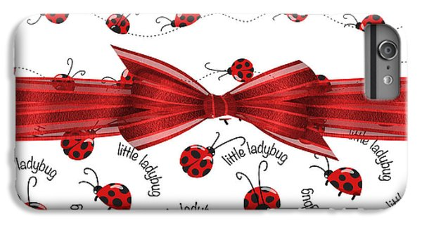 Stylish Ladybugs IPhone 6 Plus Case by Debra  Miller