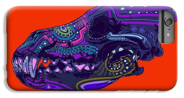 Folk Art iPhone 6 Plus Case - Sugar Wolf by Nelson Dedos Garcia