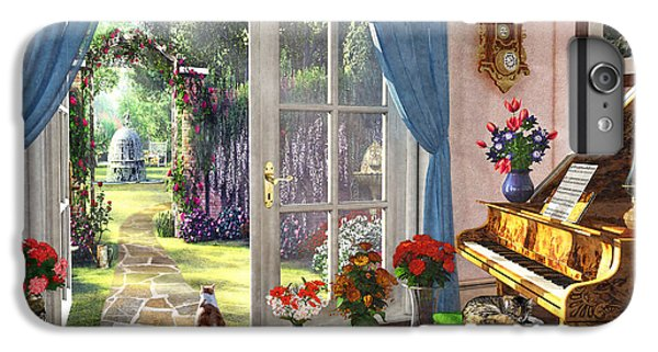 IPhone 6 Plus Case featuring the painting Summer Garden View by Dominic Davison