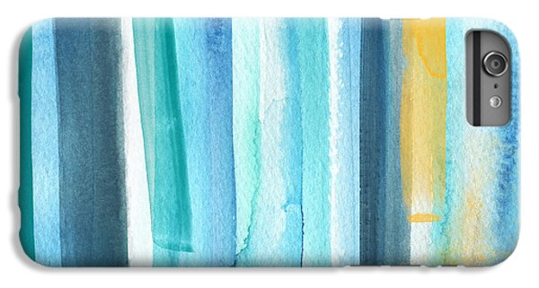 Blue iPhone 6 Plus Case - Summer Surf- Abstract Painting by Linda Woods