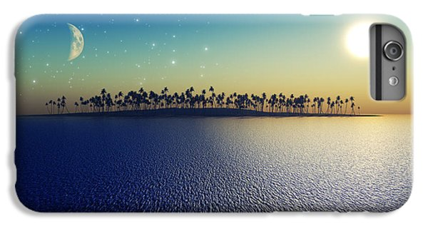 Pacific Ocean iPhone 6 Plus Case - Sun And Moon by Aleksey Tugolukov