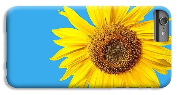 Sunflower iPhone 6 Plus Case - Sunflower Blue Sky by Edward Fielding