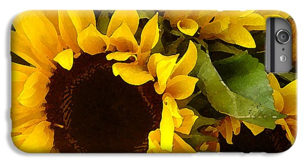 Sunflowers IPhone 6 Plus Case by Amy Vangsgard