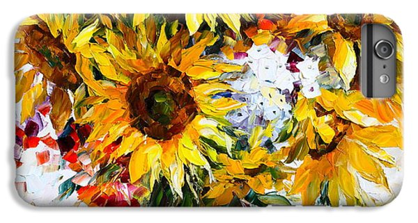Afremov iPhone 6 Plus Case - Sunflowers Of Happiness New by Leonid Afremov
