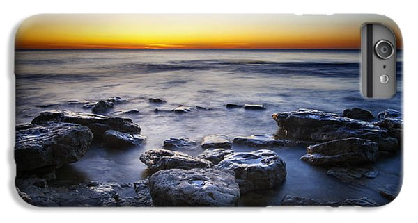 Lake Michigan iPhone 6 Plus Case - Sunrise At Cave Point by Scott Norris