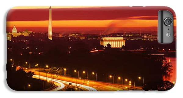 Jefferson Memorial iPhone 6 Plus Case - Sunset, Aerial, Washington Dc, District by Panoramic Images