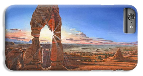 Desert iPhone 6 Plus Case - Sunset At Delicate Arch Utah by Richard Harpum