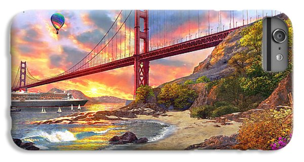 Sunset At Golden Gate IPhone 6 Plus Case