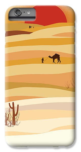 Desert iPhone 6 Plus Case - Sunset In The Desert by Neelanjana  Bandyopadhyay
