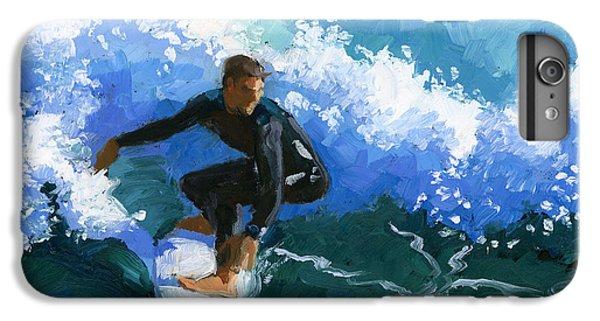 Water Ocean iPhone 6 Plus Case - Surfin' Huntington Beach Pier by Alice Leggett