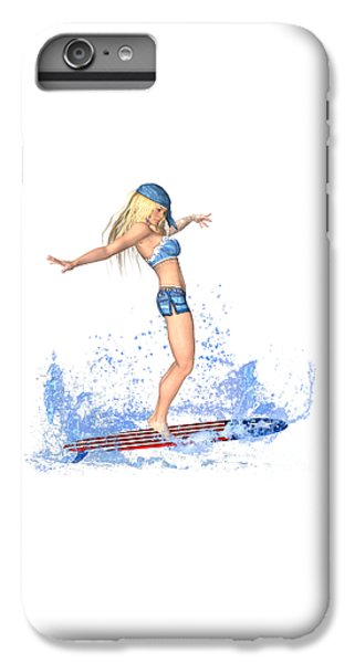 Surfing Girl IPhone 6 Plus Case