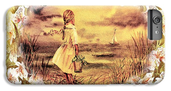 IPhone 6 Plus Case featuring the painting Sweet Memories A Trip To The Shore by Irina Sztukowski