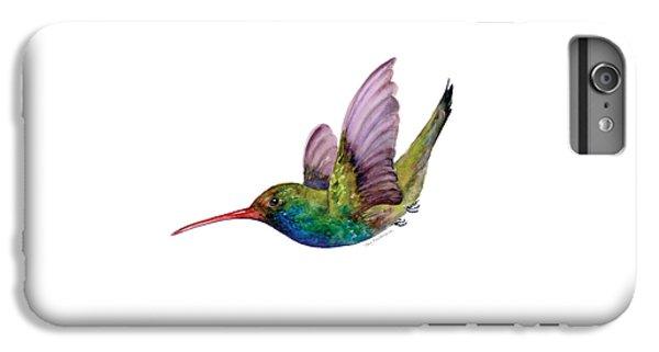 Swooping Broad Billed Hummingbird IPhone 6 Plus Case by Amy Kirkpatrick