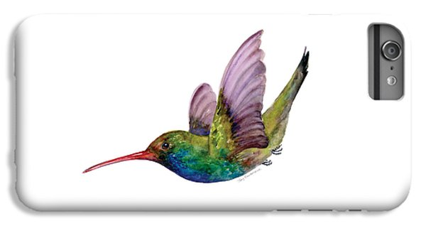 Swooping Broad Billed Hummingbird IPhone 6 Plus Case by Amy Kirkpatrick