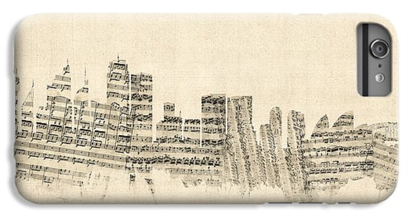 Sydney Australia Skyline Sheet Music Cityscape IPhone 6 Plus Case by Michael Tompsett