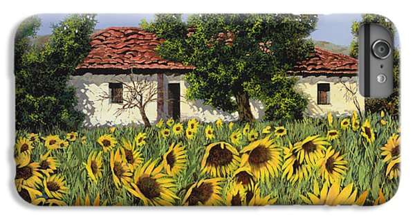 Sunflower iPhone 6 Plus Case - Tanti Girasoli Davanti by Guido Borelli