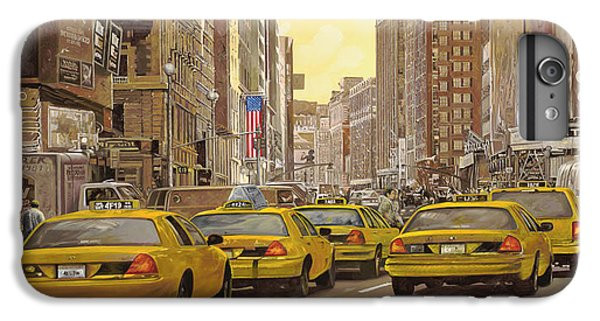 Central Park iPhone 6 Plus Case - taxi a New York by Guido Borelli
