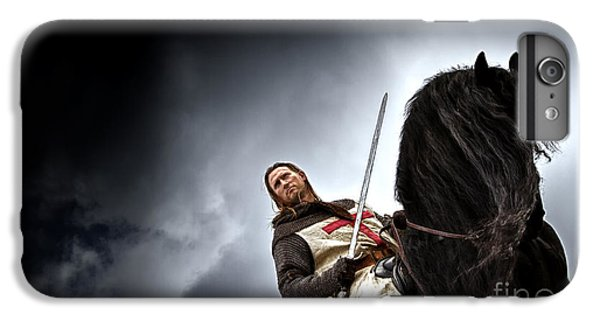 Templar Knight Friesian II IPhone 6 Plus Case by Holly Martin