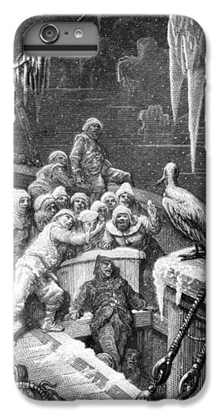 The Albatross Being Fed By The Sailors On The The Ship Marooned In The Frozen Seas Of Antartica IPhone 6 Plus Case by Gustave Dore