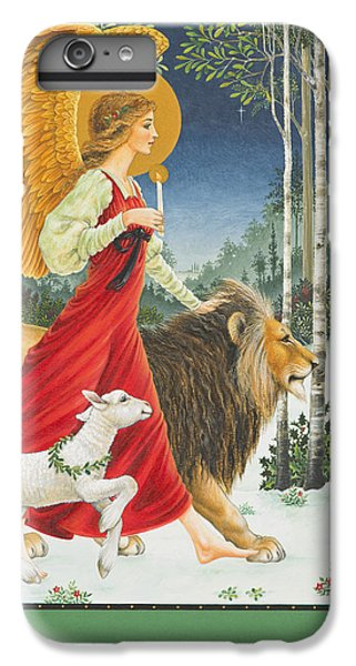 Lion iPhone 6 Plus Case - The Angel The Lion And The Lamb by Lynn Bywaters