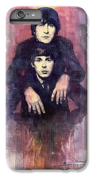 Figurative iPhone 6 Plus Case - The Beatles John Lennon And Paul Mccartney by Yuriy Shevchuk