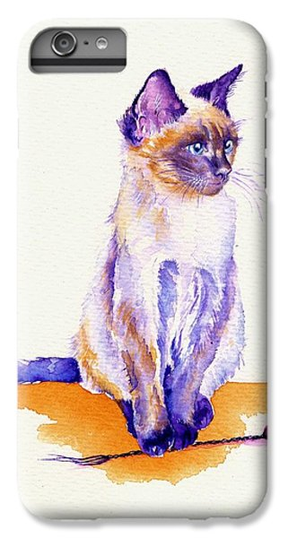 Cat iPhone 6 Plus Case - The Catmint Mouse Hunter by Debra Hall
