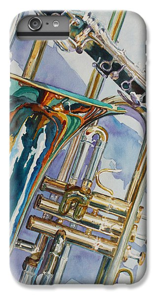 Trombone iPhone 6 Plus Case - The Color Of Music by Jenny Armitage