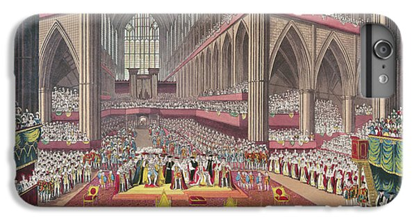 The Coronation Of King William Iv And Queen Adelaide, 1831 Colour Litho IPhone 6 Plus Case by English School