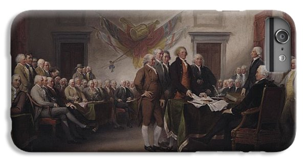 The Declaration Of Independence, July 4, 1776 IPhone 6 Plus Case by John Trumbull