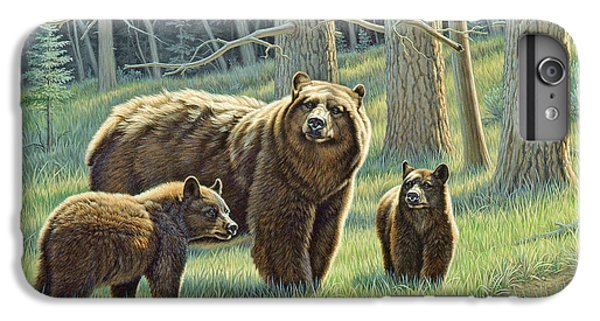 Bear iPhone 6 Plus Case - The Family - Black Bears by Paul Krapf