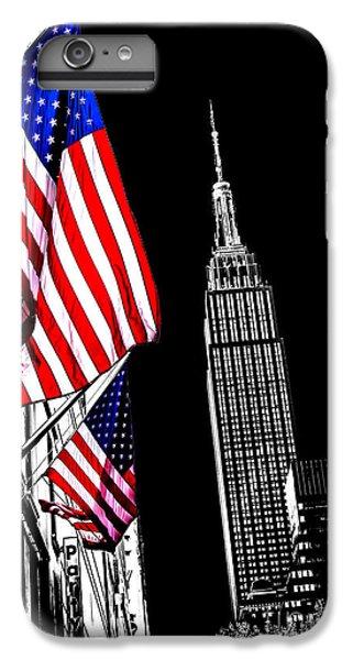 Empire State Building iPhone 6 Plus Case - The Flag That Built An Empire by Az Jackson
