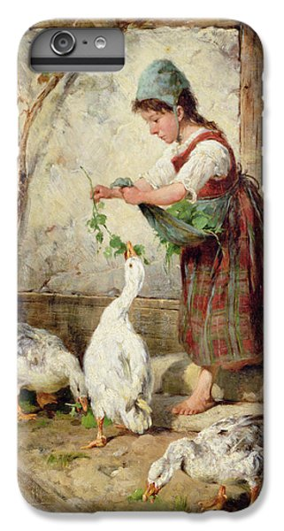 Goose iPhone 6 Plus Case - The Goose Girl by Antonio Montemezzano