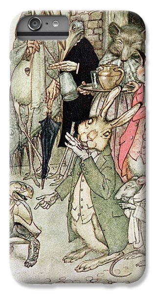 Vulture iPhone 6 Plus Case - The Hare And The Tortoise, Illustration From Aesops Fables, Published By Heinemann, 1912 Colour by Arthur Rackham