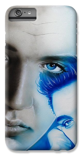 Elvis Presley - ' The King ' IPhone 6 Plus Case by Christian Chapman Art