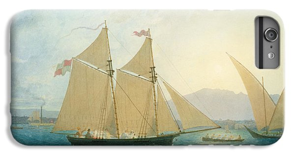 Boat iPhone 6 Plus Case - The Launch La Sociere On The Lake Of Geneva by Francis  Danby
