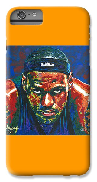 The Lebron Death Stare IPhone 6 Plus Case by Maria Arango