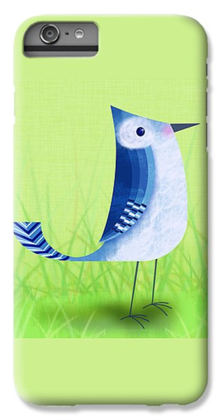The Letter Blue J IPhone 6 Plus Case by Valerie Drake Lesiak