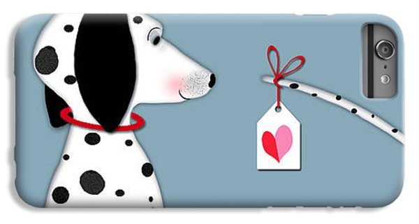 Dog iPhone 6 Plus Case - The Letter D For Dalmatian by Valerie Drake Lesiak