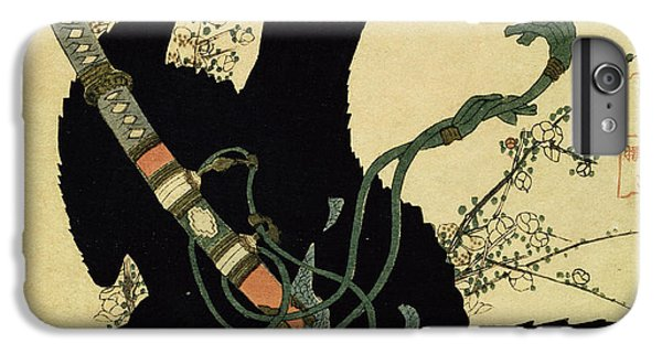 Blackbird iPhone 6 Plus Case - The Little Raven With The Minamoto Clan Sword by Katsushika Hokusai