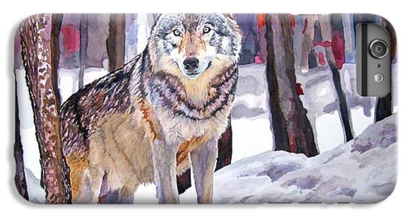 Wolves iPhone 6 Plus Case - The Lone Wolf by David Lloyd Glover