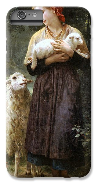 Sheep iPhone 6 Plus Case - The Newborn Lamb by William Bouguereau