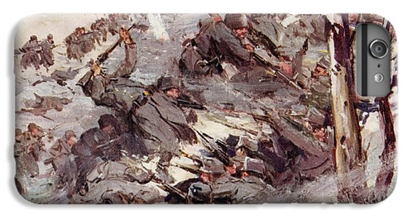The Russians Fighting Their Way Over The Carpathians IPhone 6 Plus Case by Cyrus Cuneo