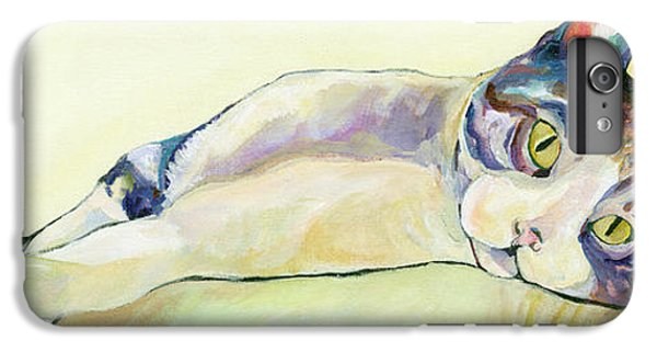 Cat iPhone 6 Plus Case - The Sunbather by Pat Saunders-White