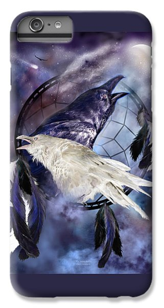 The White Raven IPhone 6 Plus Case by Carol Cavalaris