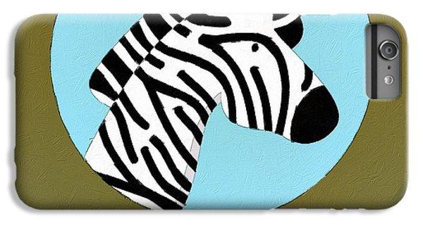 The Zebra Cute Portrait IPhone 6 Plus Case by Florian Rodarte
