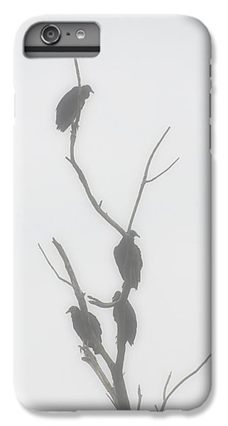 Their Waiting Four Black Vultures In Dead Tree IPhone 6 Plus Case by Chris Flees