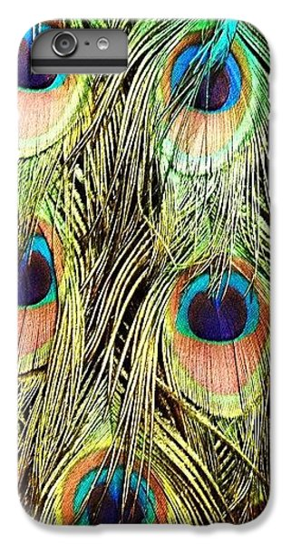 Colorful iPhone 6 Plus Case - Peacock Feathers by Blenda Studio